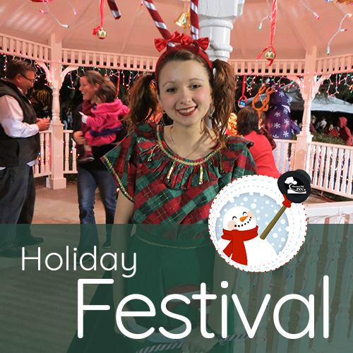 Teen girl with candy cane antlers and holiday dress, Local Holiday Event Guide