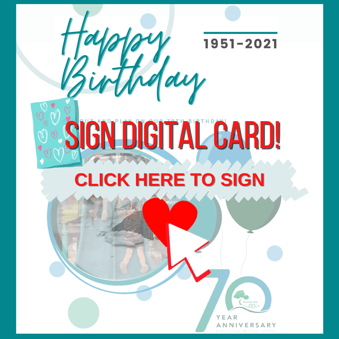 Image of Rec & Park Birthday Card to Sign