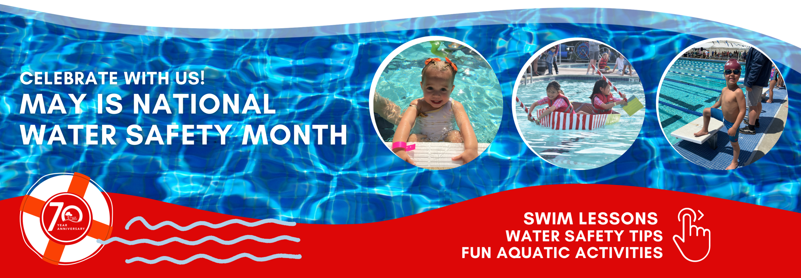 May Water Safety Month Banner