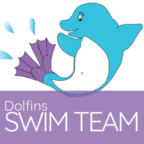 Dolfin Swim Team Logo featuring Flippy the Dolfin